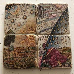 Other - Set of 4 Rad Heavy Celestial Wizard Drink Coasters